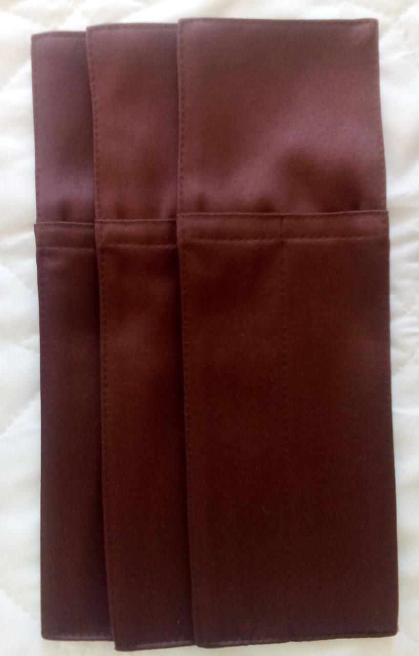 """Куверт (конверт),на 2 прибора,тк.""""Декор дукат""""коричневый. - интернет-магазин """"Текстиль-комфорт"""" в Херсонской области"""