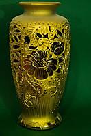Красивая настольная ваза Валенсия золото
