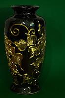 Красивая настольная ваза Валенсия черная