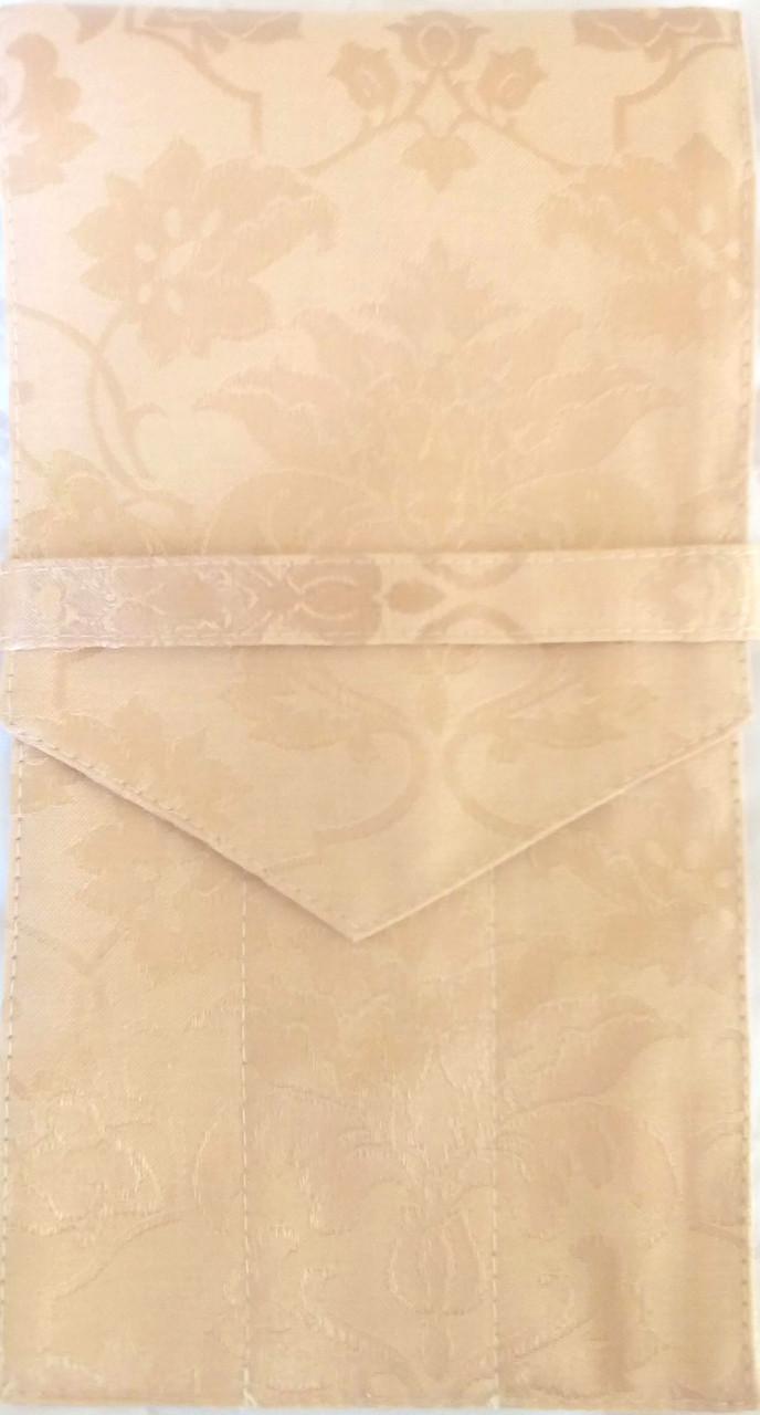 Куверт (конверт) закрытый на 3 прибора , ткань Мати  рис. 1589  Бежевый.