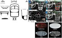 Kia Sportage 2001-2004 накладки на панель цвет алюминий