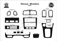 Nissan Maxima 1995-2000 накладки на панель цвет алюминий