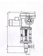 Клапан 870-65-ЭА, Ду-65  Ру-37,3МПа,Т-280С