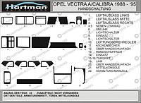 Opel Vectra A 1987-1995 накладки на панель цвет карбон