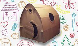 Картонный домик-раскраска для детей (110х102х110)