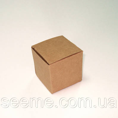 Бонбоньерка из крафт картона, 55х55х55 мм.