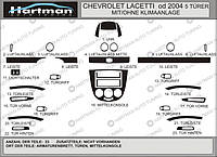 Chevrolet Lacetti Накладки на панель Hatchback (Hartman) цвет алюминий