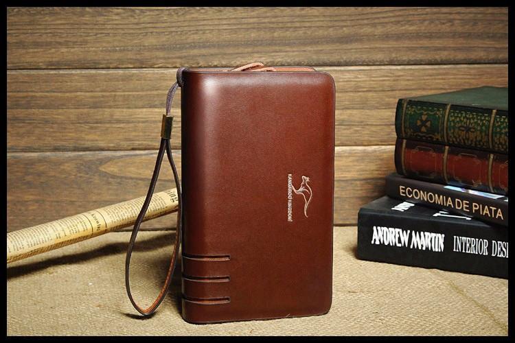5ee8ec19b9ce Мужская кожаная барсетка. Кожаный кошелек. Портмоне. Клатч. Мужская мини  сумка-барсетка KANGAROO KINGDOM