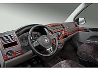 Volkswagen T5 рестайлинг 2010-2015 накладки на панель цвет дерево