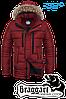 Мужская красная зимняя парка Braggart арт. 3119