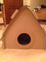 Картонный домик для домашних животных