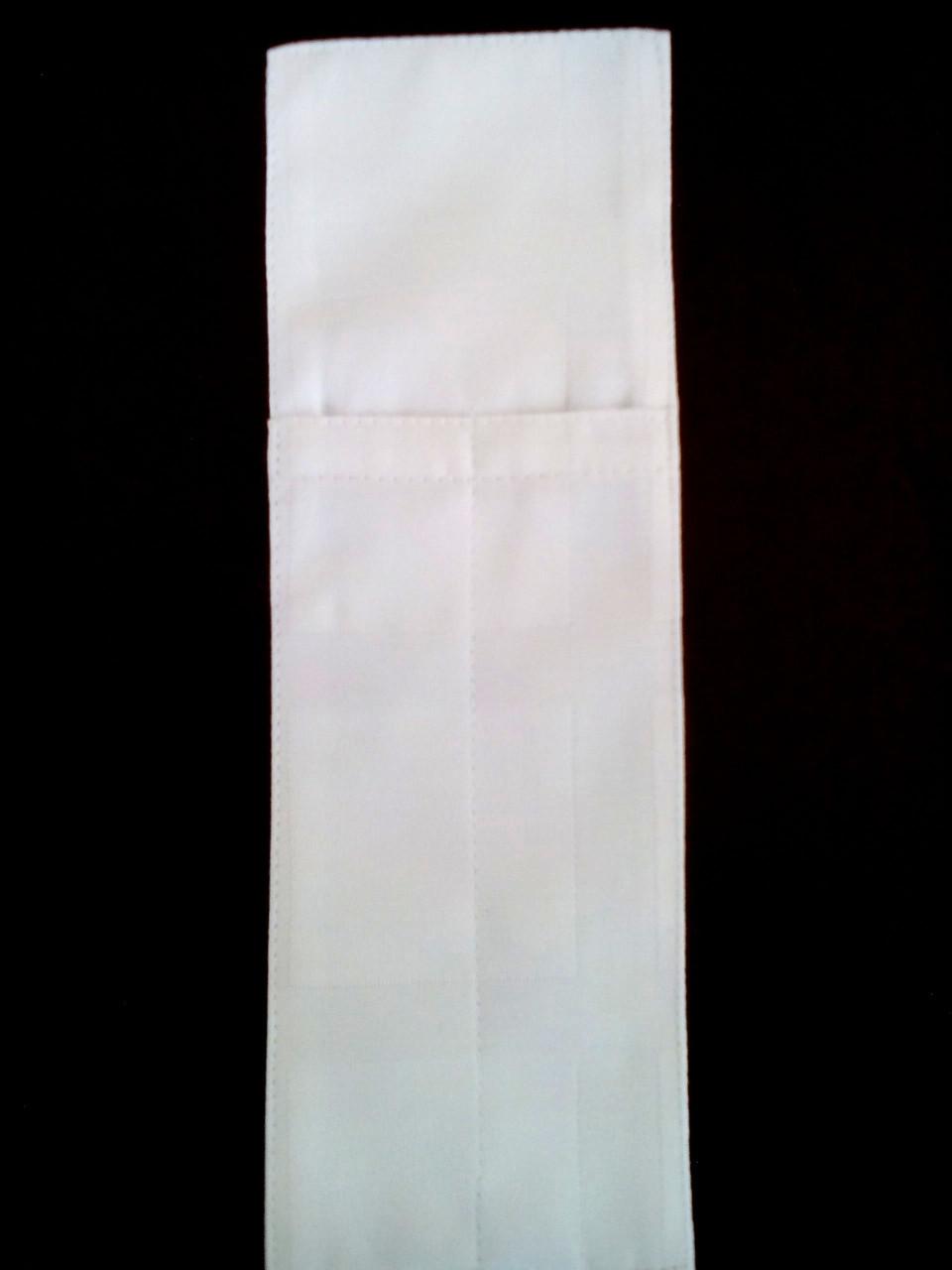 Куверт (конверт)на 2 прибора , ткань Журавинка  клетка белая.