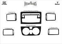 Fiat idea 2003+ накладки на панель цвет титан
