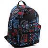 Рюкзак для учебы и города Wallaby черно-голубой (1353-1)