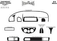 Chevrolet Tacuma накладки на панель цвет алюминий