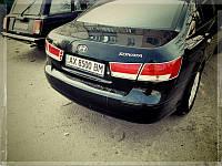 Хром накладки на Hyundai Sonata NF на стопи Libao