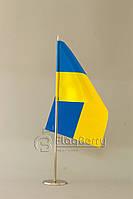 Флажок Украины 13,5*25 см., плотный атлас
