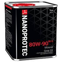 Минеральное трансмиссионное масло NANOPROTEC GEAR OIL 80W-90 GL-5 1L