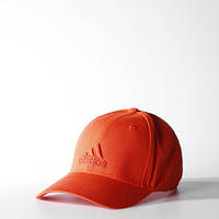 Кепка Adidas хлопковая оранжевая изогнутый козырек S20452