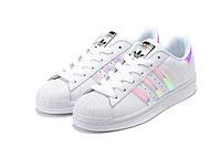 Женские кроссовки  Adidas Superstar (White/Hologram), фото 1