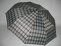 Зонт женский в клетку №925 на 10 спиц из толстого карбона