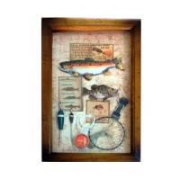 Ключница настенная «Рыболовные снасти»