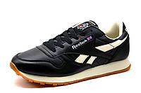 Кроссовки Reebok Classic, черные с белым, мужские, фото 1
