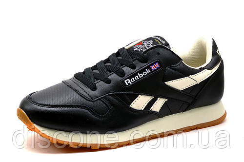 Кроссовки Reebok Classic, черные с белым, мужские