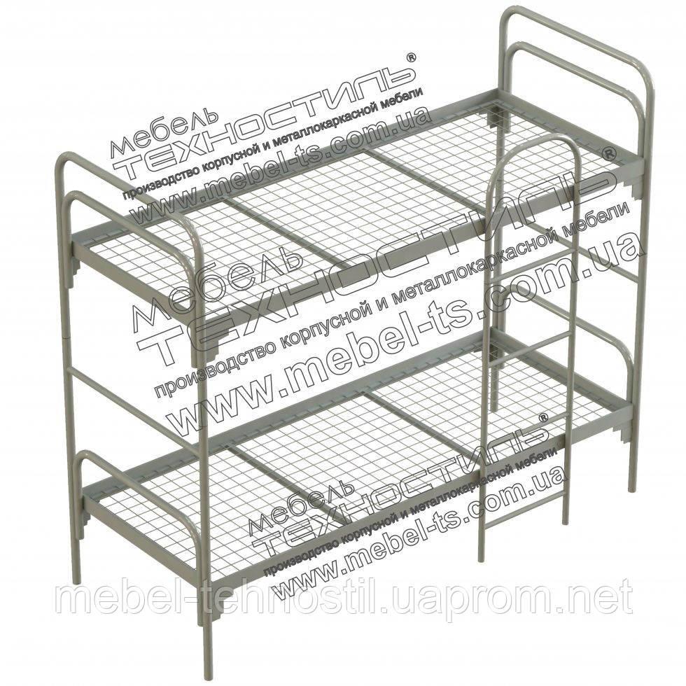 Кровать металлическая двухъярусная с лестницей №3 - ООО «Мебель Техностиль» в Харькове