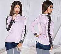 Женская шифоновая блуза украшена вуалью
