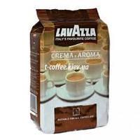 Зерновой кофе Lavazza Crema e Aroma. Входит в пятерку самых популярных смесей кофейных зерен от Lavazza.