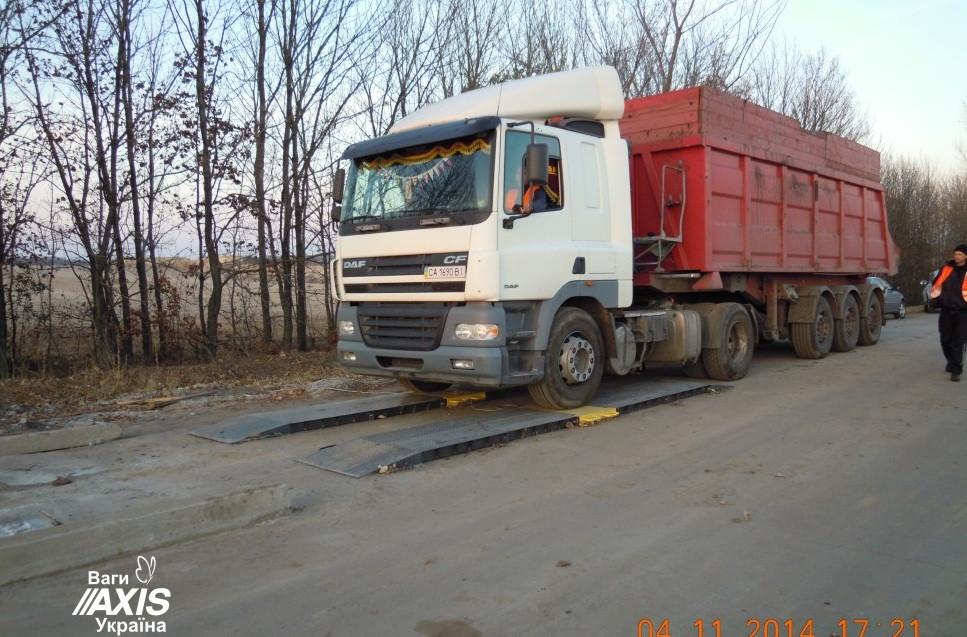 Весы автомобильные подкладные для еврофур Axis 15-П Д