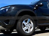 Renault Duster 2008+ гг. Расширители арок узкие (4 шт, мат) Черный мат