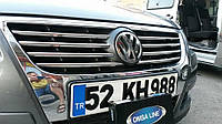 Volkswagen Passat B6 2006-2012 гг. Накладки на решетку (8 шт, нерж) OmsaLine - Итальянская нержавейка