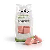 Горячий воск для депиляции Depilflax 1кг розовый