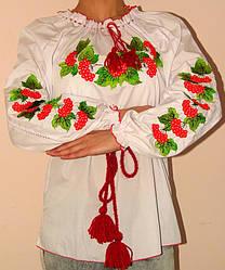 Вышиванка женская калина