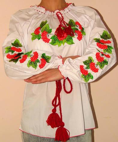 Вышиванка женская калина, фото 2