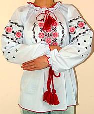Вышиванка цветы крестиком большой размер, фото 3