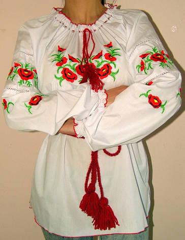 Женская вышиванка с цветами, фото 2