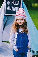 Детская шапка двухсторонняя для девочек ЛЭТТИ оптом размер 46-48-50