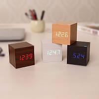 """Часы-будильник """"Куб"""" с подсветкой"""