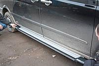 Mercedes Vito W639 2004-2015 гг. Боковые площадки Rainbow (2 шт., алюминий) Длинная (ExtraLong)