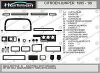Fiat Ducato 1995-2006 гг. Накладки на панель (модель 1995-1998) Карбон плюс