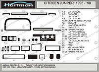 Fiat Ducato 1995-2006 гг. Накладки на панель (модель 1995-1998) Орех