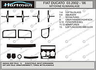 Fiat Ducato 1995-2006 гг. Накладки на панель (модель 2002-2006) Орех