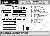 Audi 100 C3 1988-1991 гг. Накладки на панель (Hartman) Красный цвет