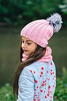 Детская шапка (набор) ЭСТЕЛЬ для девочек оптом, фото 1