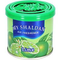 Освежитель гелевый MY SHALDAN ♨ аромат Lime ✔ 80 гр. ⚠ Япония