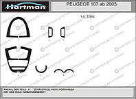 Peugeot 107 2005+ гг. Тюнинг салона Черный