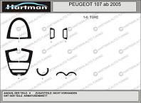 Peugeot 107 2005+ гг. Тюнинг салона Светлый шпон